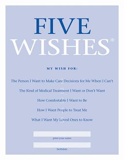 Five Wishes Booklet